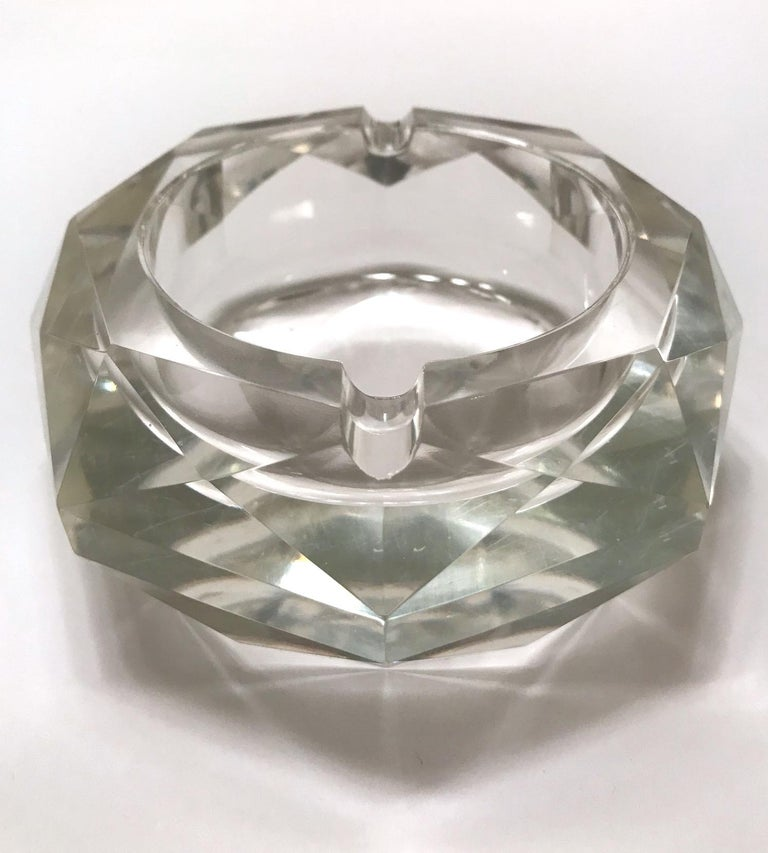 Mid-Century Modern Faceted Murano Glass Ashtray, Italy, 1950s For Sale 8
