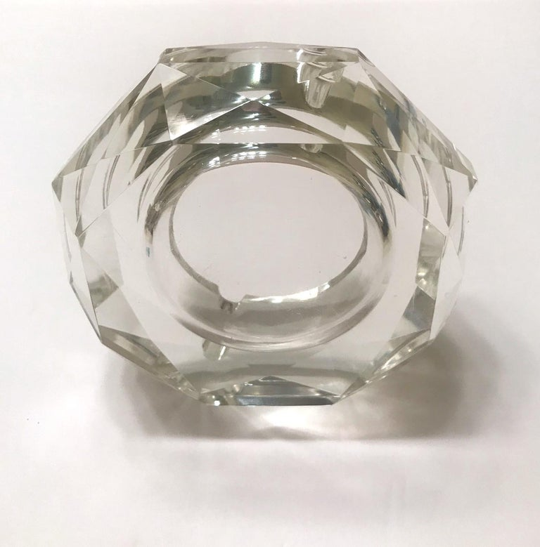 Mid-Century Modern Faceted Murano Glass Ashtray, Italy, 1950s For Sale 3