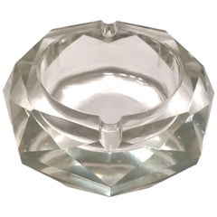 Mid-Century Modern Faceted Murano Glass Ashtray, Italy, 1950s