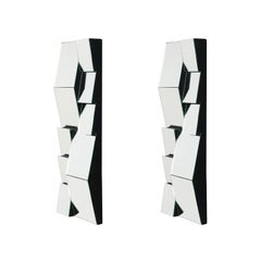 """Mid-Century Modern Faceted """"Slopes"""" Mirrors by Neal Small"""