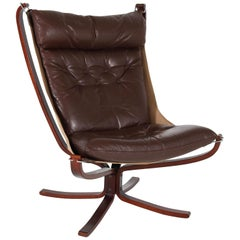 Mid-Century Modern Falcon Chair by Sigurd Ressell for Vatne Møbler Norway, 1970s