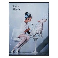"""Mid-Century Modern Fashion Poster """"Alvarez the Artist"""" by Graphique De France"""