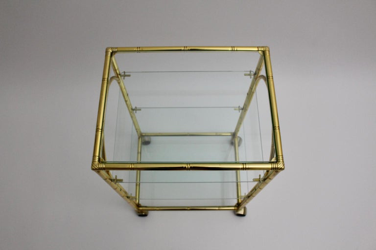 Mid-Century Modern Faux Bamboo Bar Cart by Maison Baguès Attributed, 1960s For Sale 7