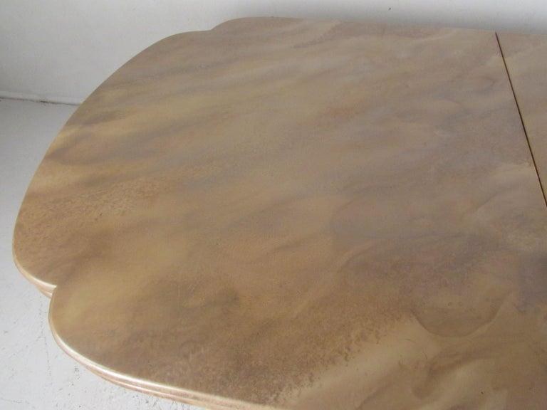 Mid-Century Modern Faux Marble Dining Table For Sale 1