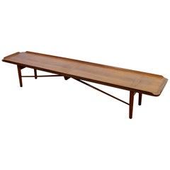 Mid-Century Modern Finn Juhl for Baker Model 406 Coffee Table Bench Seat, 1950s
