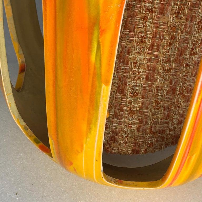 Mid-Century Modern Flaming Orange Ceramic Pendant For Sale 8