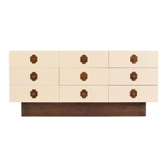 Mid-Century Modern Nine Drawer Dresser