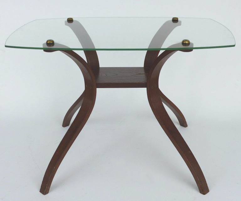 Offered For Is A Pair Of Mid Century Modern Bentwood Side Table With Floating