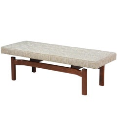 Mid-Century Modern Floating Tufted Bench