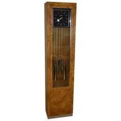 Mid-Century Modern Floor Clock Howard Miller Olivewood Case