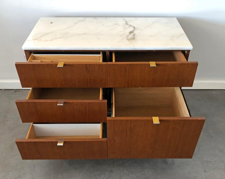 Carrara Marble Mid-Century Modern Florence Knoll Credenza For Sale