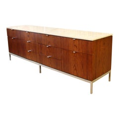 Mid-Century Modern Florence Knoll for Knoll Int. Rosewood Marble Credenza, 1960s