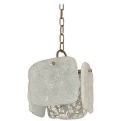 Mid-Century Modern Foam Glass Pendant Light by Kalmar of Austria