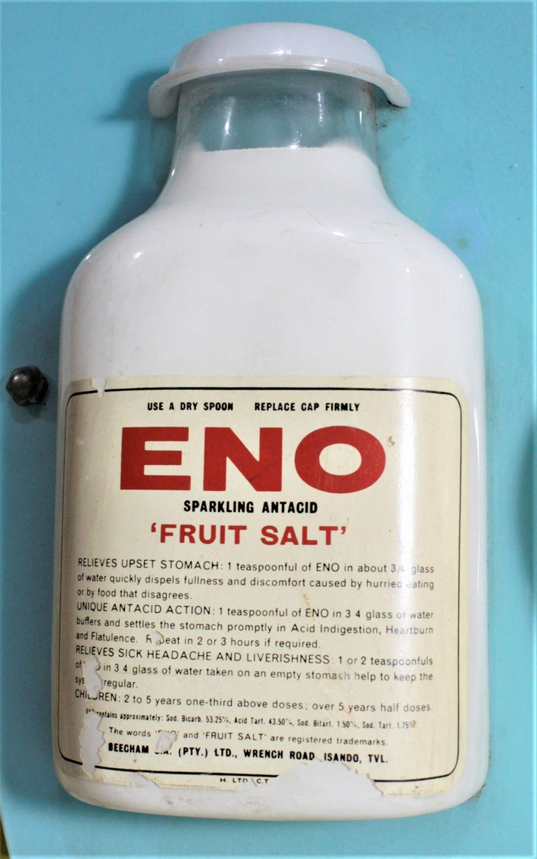 Molded Mid-Century Modern Folk Art Eno Antacid Advertising Sign For Sale