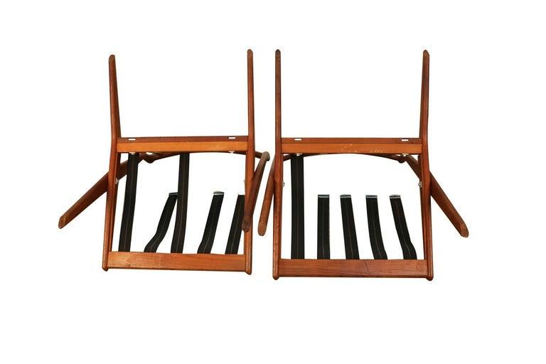 Mid-Century Modern Folke Ohlsson Dux Scissor Lounge Chairs, Pair For Sale 4