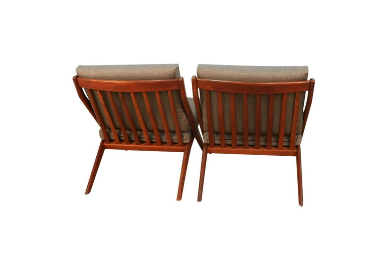 Mid-Century Modern Folke Ohlsson Dux Scissor Lounge Chairs, Pair In Good Condition For Sale In Baltimore, MD