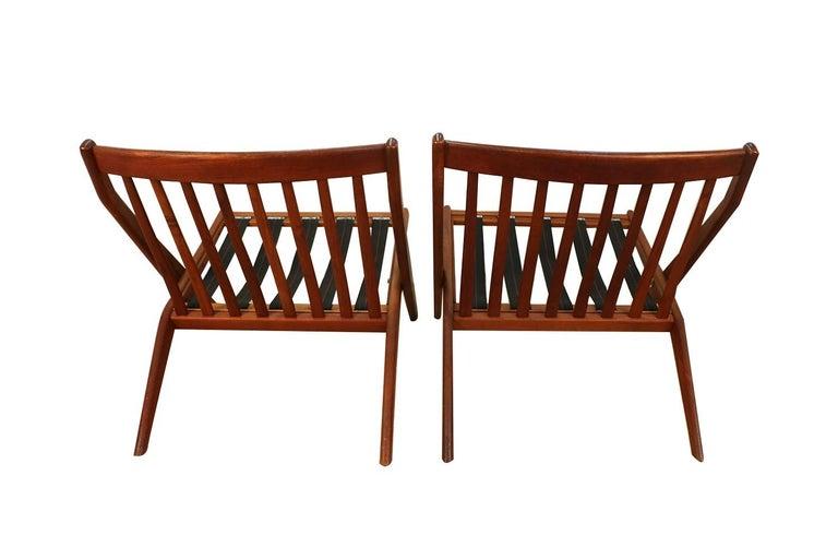 Mid-Century Modern Folke Ohlsson Dux Scissor Lounge Chairs, Pair For Sale 3