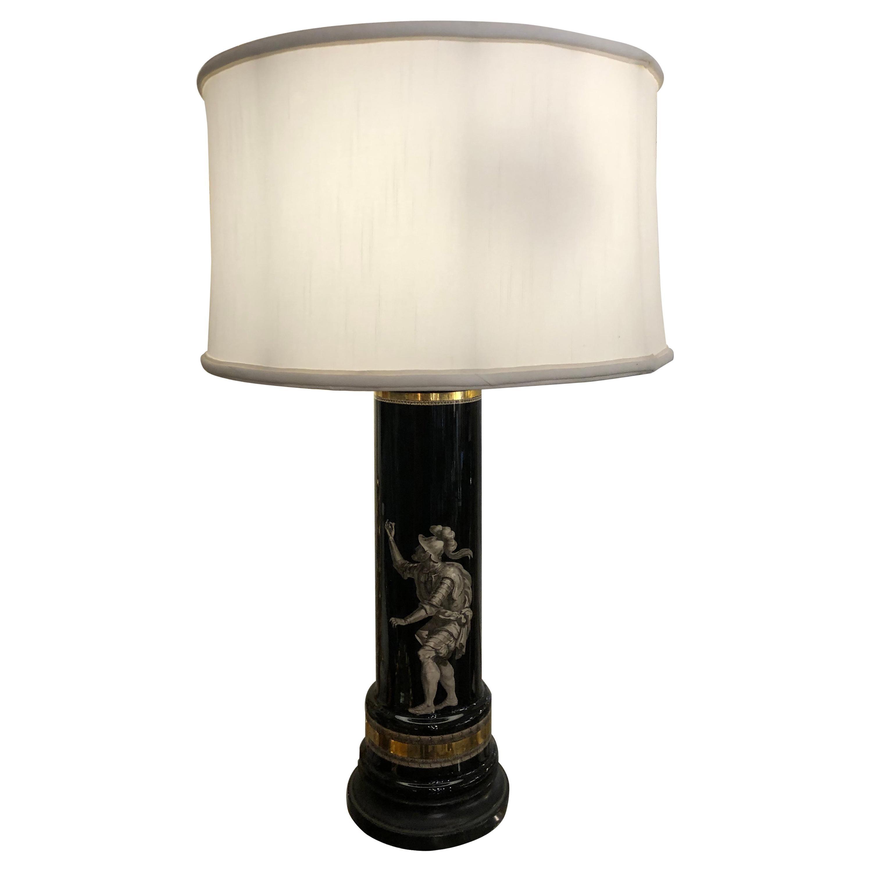 Mid-Century Modern Fornasetti Style Table Lamp