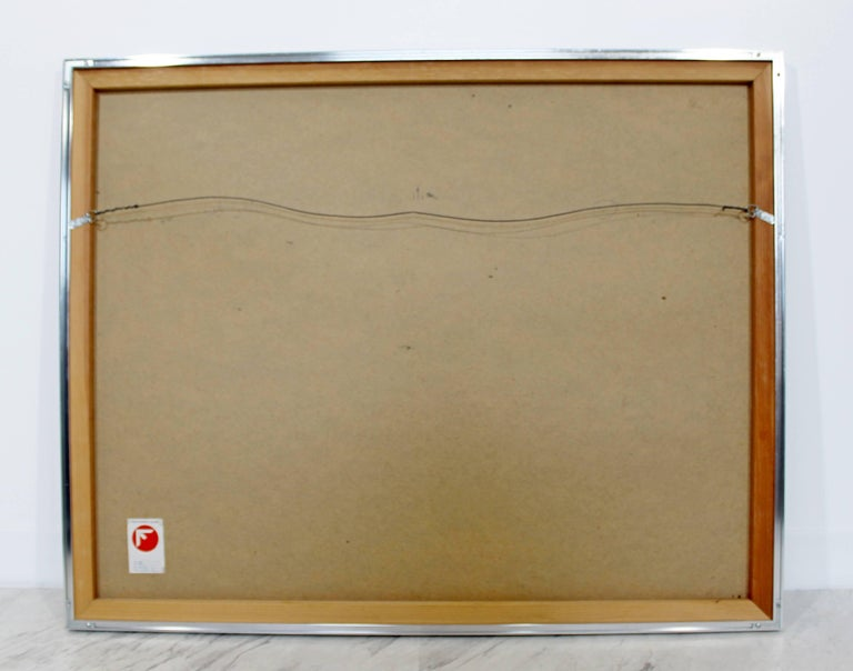 Mid-Century Modern Framed Abstract Litho Robert Natkin Dated 1970s For Sale 1