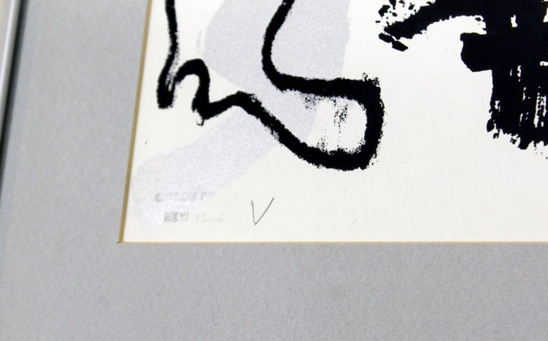 Paper Mid-Century Modern Framed Abstract Print Boom Boom Signed Arman Numbered, 1966 For Sale