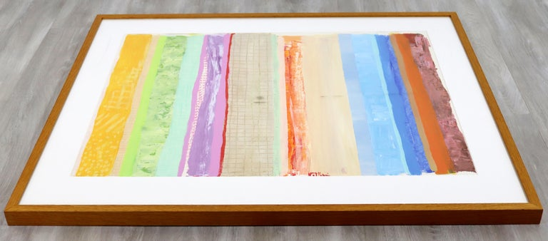 American Mid-Century Modern Framed Acrylic Painting Signed Robert Natkin Apollo, 1970s For Sale