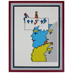 Mid-Century Modern Framed AP the Thought of God Peter Max Signed Numbered, 1971