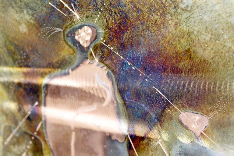 Mid-Century Modern Framed Copper Metal Etched Artwork Signed Dale Clark, 1980s For Sale 6