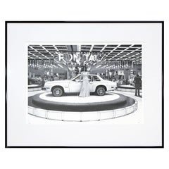 Mid-Century Modern Framed Detroit Auto Show Photograph Signed Bill Rauhauser