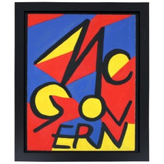 Mid-Century Modern Framed McGovern Lithograph Signed Alexander Calder 5/75 1970s