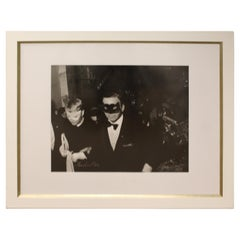 Mid-Century Modern Framed Photograph Frank & Mia Signed by Harry Benson, 1966