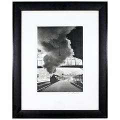 Mid-Century Modern Framed Photograph Signed by Edouard Boubat Gare Saint-Lazare