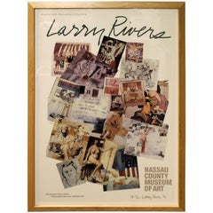 Mid-Century Modern Framed Poster Signed Numbered Dated by Larry Rivers, 1990s