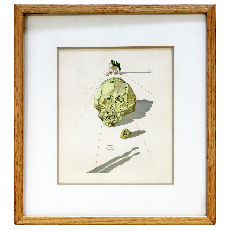 Mid-Century Modern Framed Salvador Dali Lithograph Return