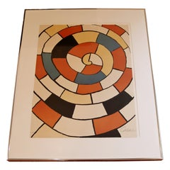 Mid-Century Modern Framed Signed Alexander Calder A.P. Lithograph