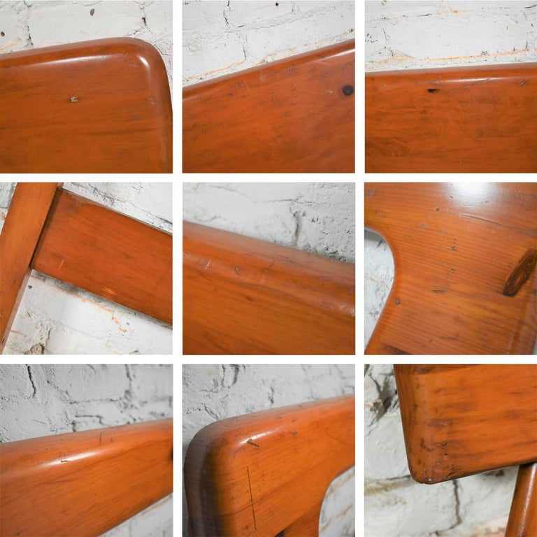 Mid-Century Modern Franklin Shockey Sculpted Pine Full Size Bed For Sale 8