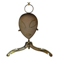 Mid-Century Modern Frederic Weinberg Bronze Painted Metal Mannequin Head Hanger