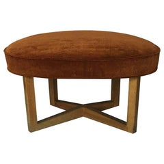Mid-Century Modern Freeform Velvet Top Stool by Paul László