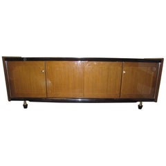 Mid-Century Modern French 1960s Long, Low Cabinet, Ameublement NF
