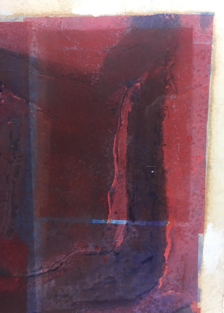 Mid-Century Abstract Lithograph, Signed M. Clauss, estate of James Baldwin In Good Condition For Sale In Arles, FR
