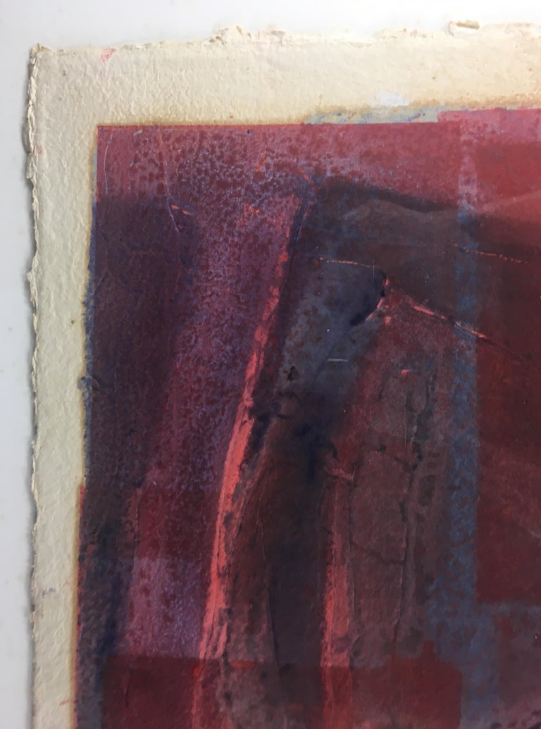 20th Century Mid-Century Abstract Lithograph, Signed M. Clauss, estate of James Baldwin For Sale