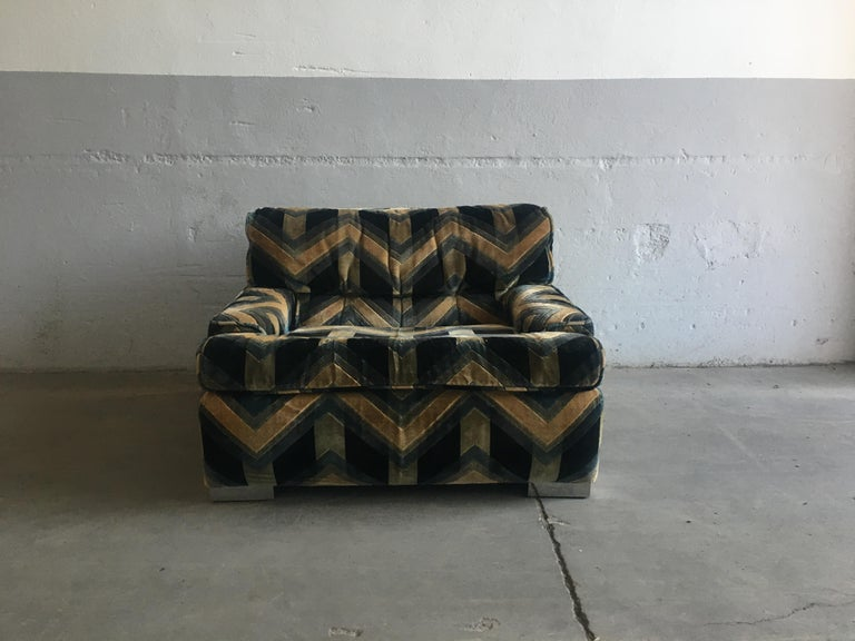 Mid-Century Modern French Armchair by Gérard Guermonprez, 1970s In Good Condition For Sale In Prato, IT