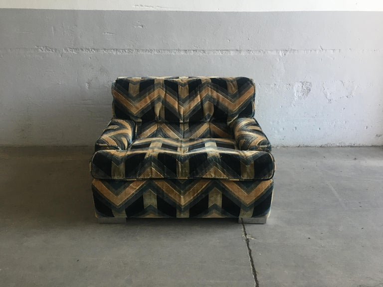 Late 20th Century Mid-Century Modern French Armchair by Gérard Guermonprez, 1970s For Sale