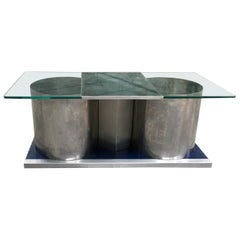 Mid-Century Modern French Bar Coffee Table by Francois Monnet, 1970s