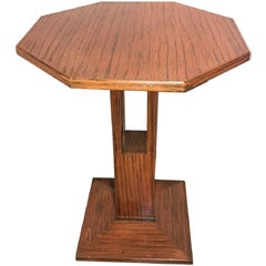 Mid-Century Modern French Exotic Oak Table