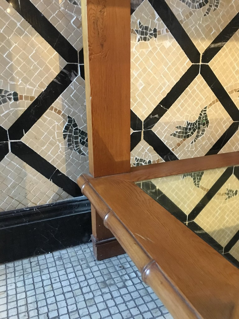 Mid-Century Modern French Faux Bamboo Cupboard Sink with Mirror Top, 1920s For Sale 10