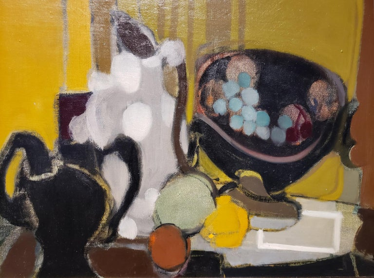 Mid-Century Modern French Still Life Painting by Alfred Defossez In Good Condition For Sale In Dallas, TX