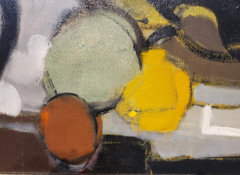 Canvas Mid-Century Modern French Still Life Painting by Alfred Defossez For Sale