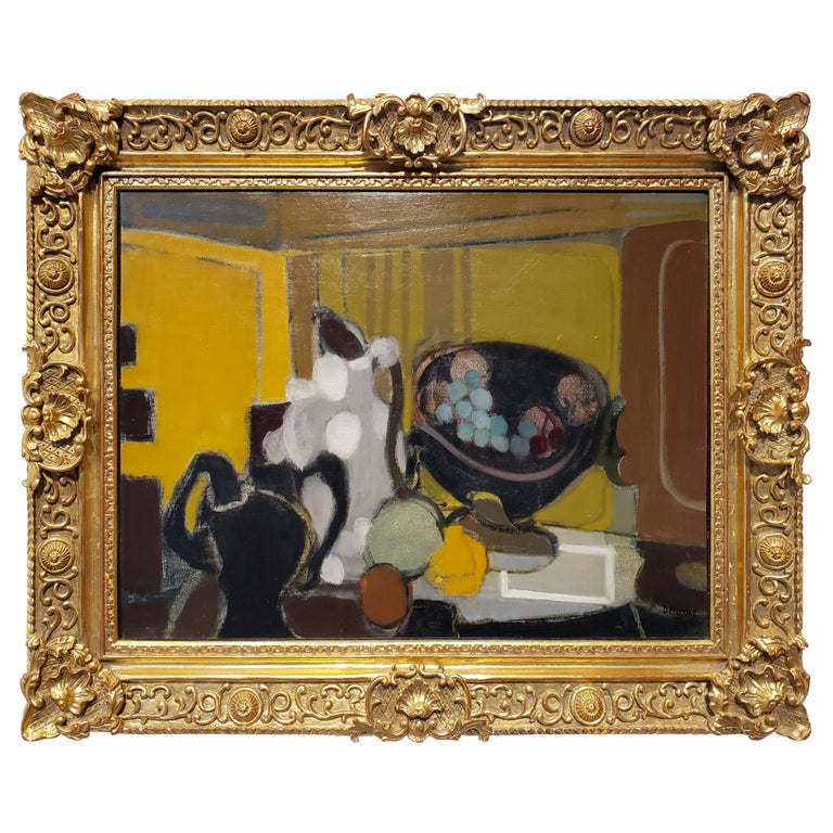 Mid-Century Modern French Still Life Painting by Alfred Defossez For Sale