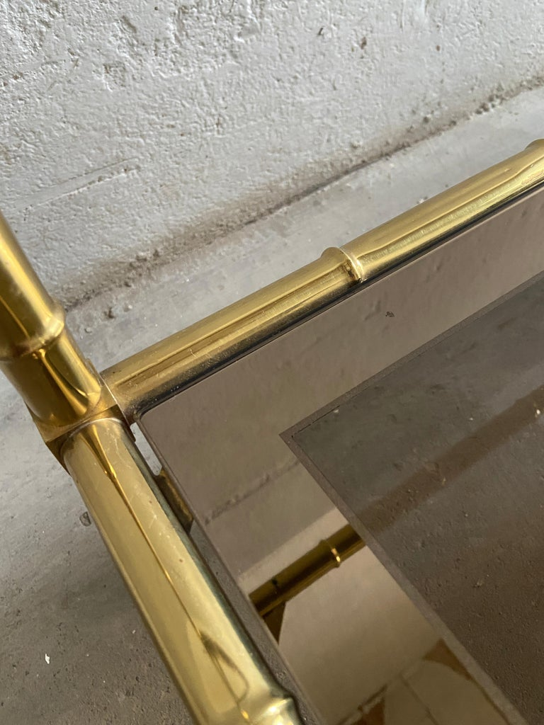 Mid-Century Modern French Two-Tier Maison Baguès Coffee or Sofa Table, 1960s For Sale 4