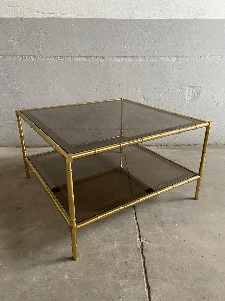 European Mid-Century Modern French Two-Tier Maison Baguès Coffee or Sofa Table, 1960s For Sale